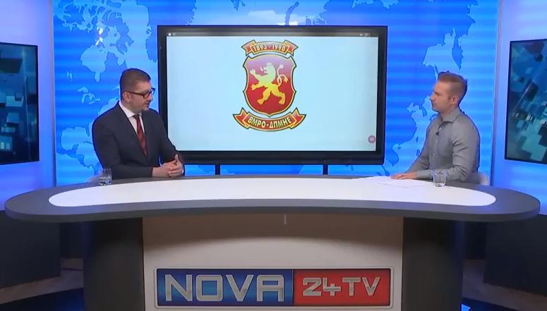 Христијан Мицкоски за словенечката Нова 24 ТВ: Владата има егзибиционистички пристап во преговорите со соседна Грција