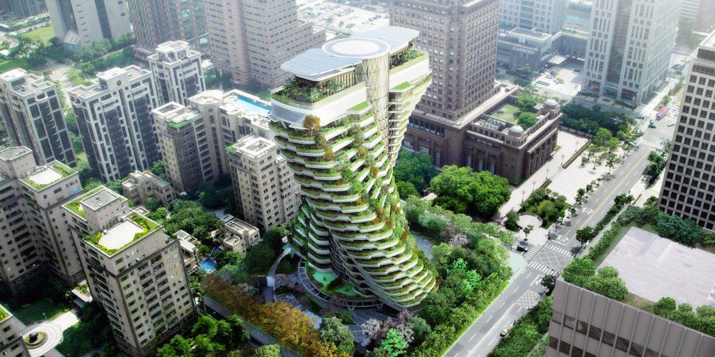 Во зградата во Тајпеј растат дрвја колку што има во цел Централ парк