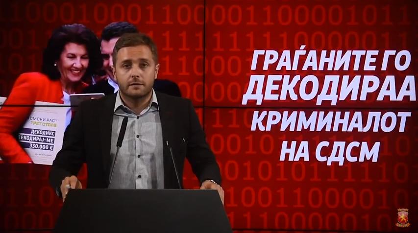 Арсовски: За семејството на Ласкова 330.000 евра народни пари, милиони на фирмите на Анѓушев и Хари Локвенец