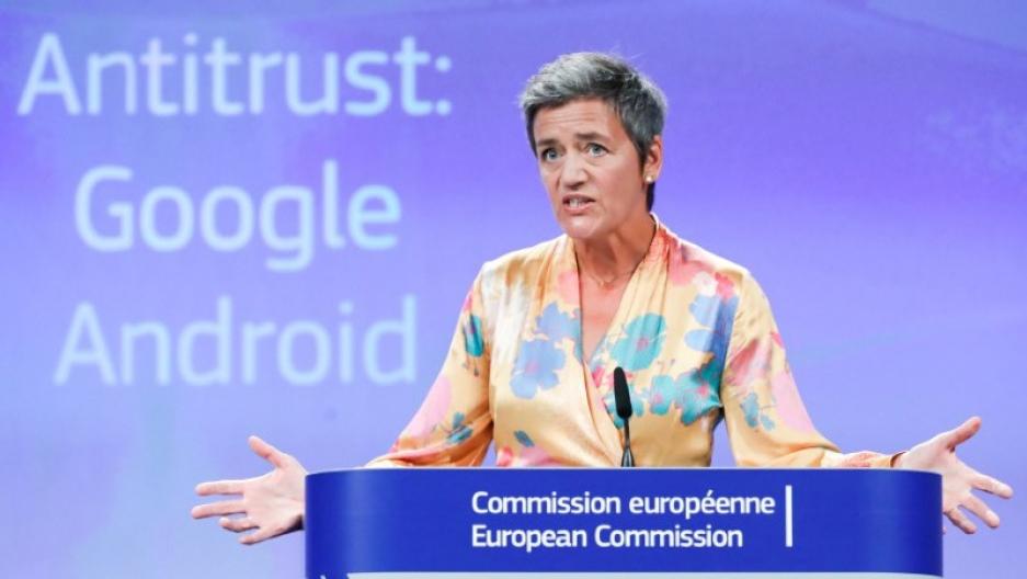 Европската комисија го казни Гугл со 4,3 милијарди евра
