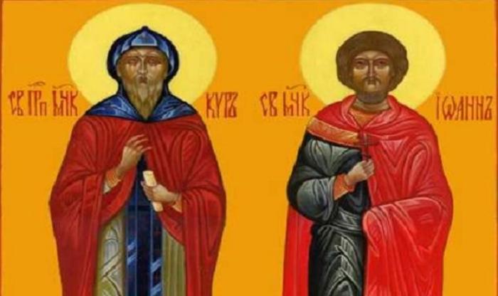 Пренесување на моштите на св. бесребреници и чудотворци Кир и Јоан