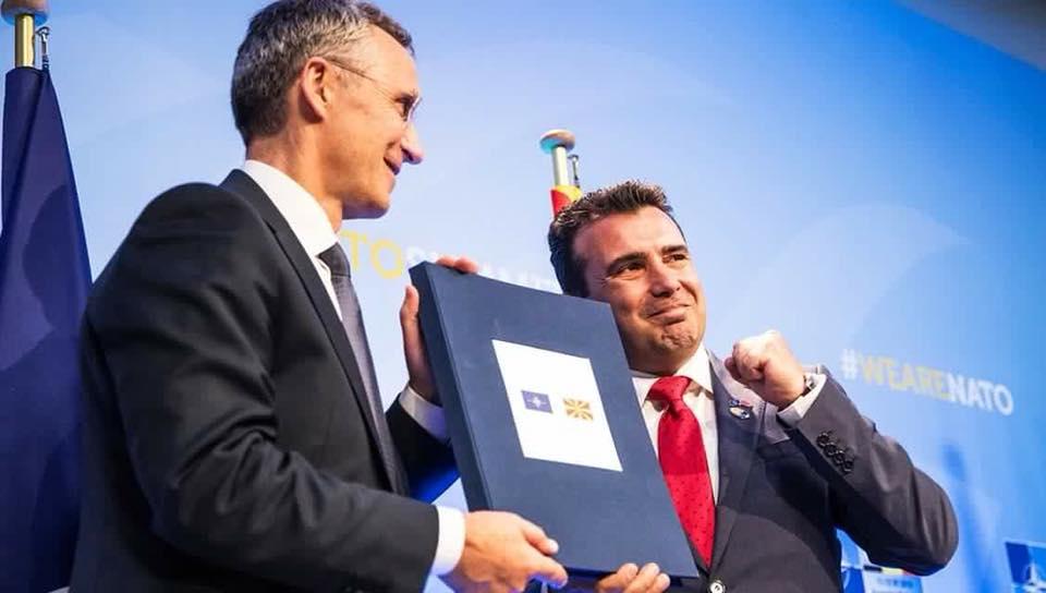 """(ГАЛЕРИЈА) Самит на НАТО во Брисел: """"Вашата земја"""" ќе седне на иста маса кога ќе го смени името"""