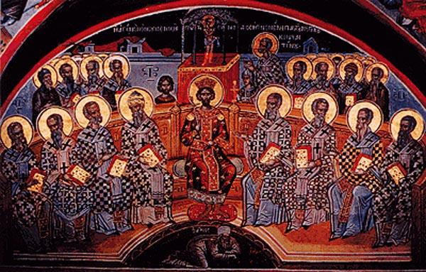 Тројца епископи од Македонија на првиот собор во Никеја – Александар од Солун, Будиос од Стоби и Дакус од Скупи