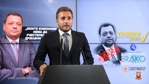 Арсовски: Вицепремиерот за тендери Анѓушев ги потценува граѓаните и си го полни фирмите