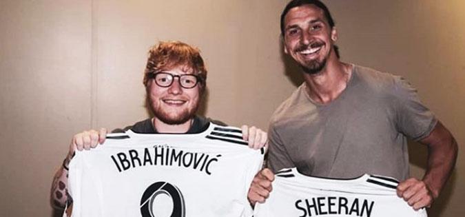 Ибрахимовиќ одби да игра за Галакси и отиде на концерт на Ед Ширан