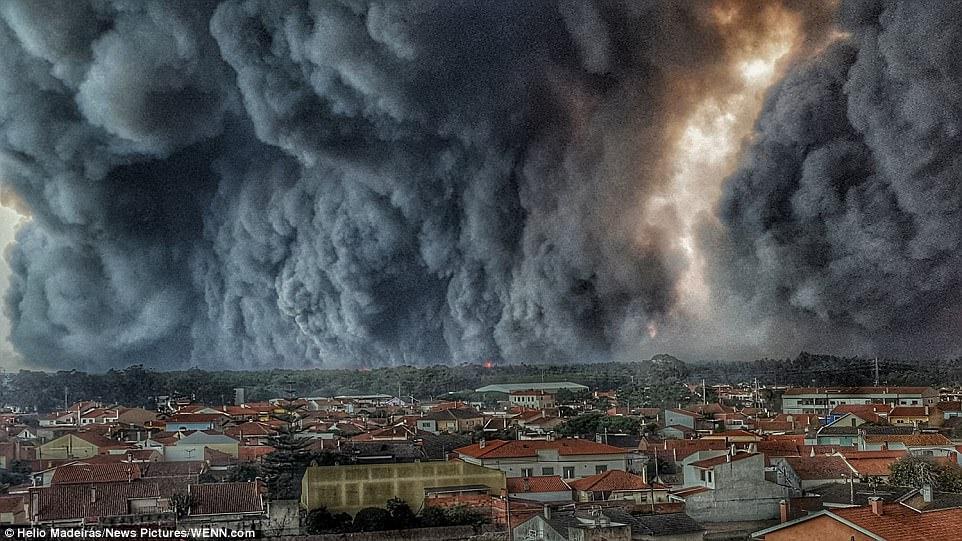 Пожарот што во Португалија беснее 7 дена се рашири на 100 километри