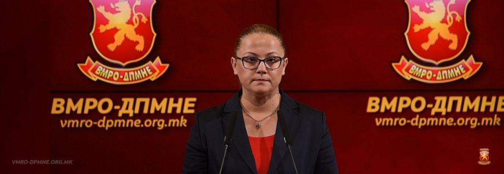 Стојаноска: Вчерашниот настап на СЈО е уште една потврда дека Македонија не е веќе правна држава
