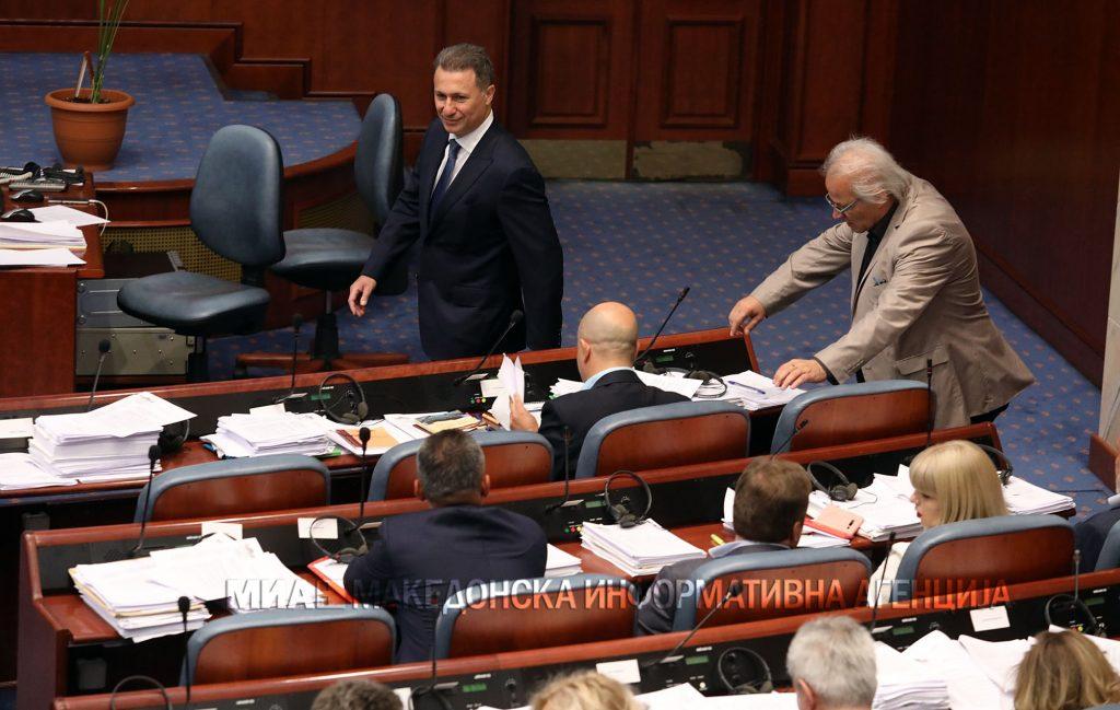 Пратениците денеска одлучуваат за одземање на мандатот на Груевски, тешко до двотретинско мнозинство