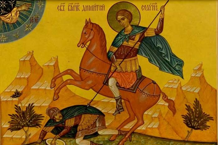 ХРИСТИЈАНИТЕ ДЕНЕСКА СЛАВАТ: Св. Великомаченик Димитриј – Митровден