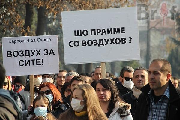 ВМРО-ДПМНЕ: Загадениот ајро ги полни клиниките, Макрадули шета по чист воздух низ Европа, а мерните станици исклучени