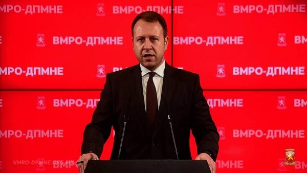 ЈАНУШЕВ ЗА ПРИТИСОКОТ ВРЗ ВМРО-ДПМНЕ ПРЕКУ СЈО: Можете да уценувате, да блокирате, но не ви се плашиме, Македонија ќе победи!