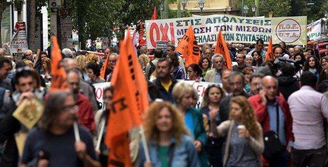 Грција: Слаб одѕив на протестот во Атина оти штрајкуваат и од јавниот превоз