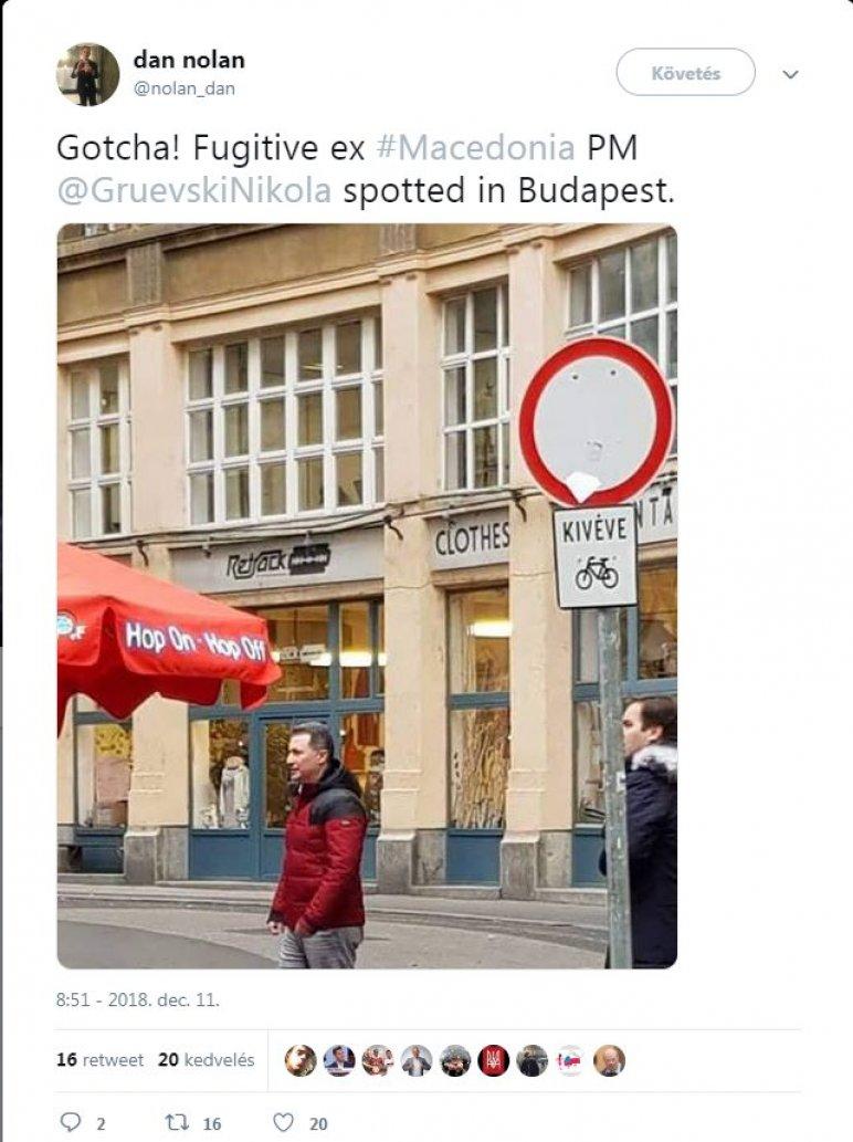 Која е приказната за фотографијата на Груевски во прошетка низ Будимпешта (ФОТО)