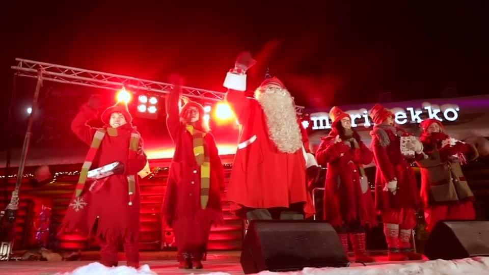 Од најсеверниот дел на Финска: Дедо Мраз со санката тргна од Лапонија