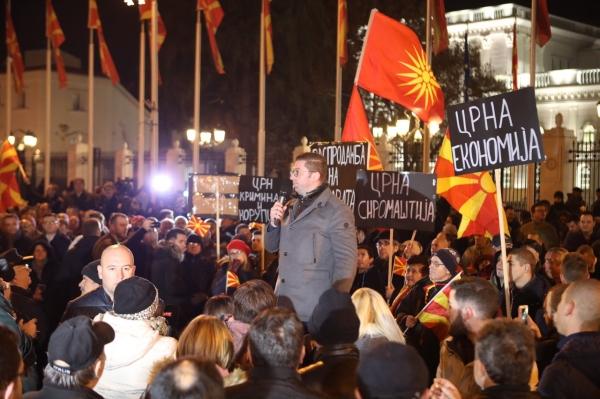 (видео) МИЦКОСКИ ЗА ДЕНЕШНИОТ ПРОТЕСТЕН МАРШ ВО СКОПЈЕ: ВМРО било и ќе остане браникот на Македонија