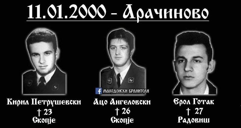 На денешен ден: Во 2000 година во скопско Арачиново  убиени биле тројца припадници на МВР