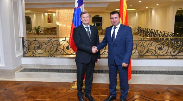 Заев: Голема поддршка е што Словенија е точка за контакт со НАТО во фаза на ратификација на Протоколот