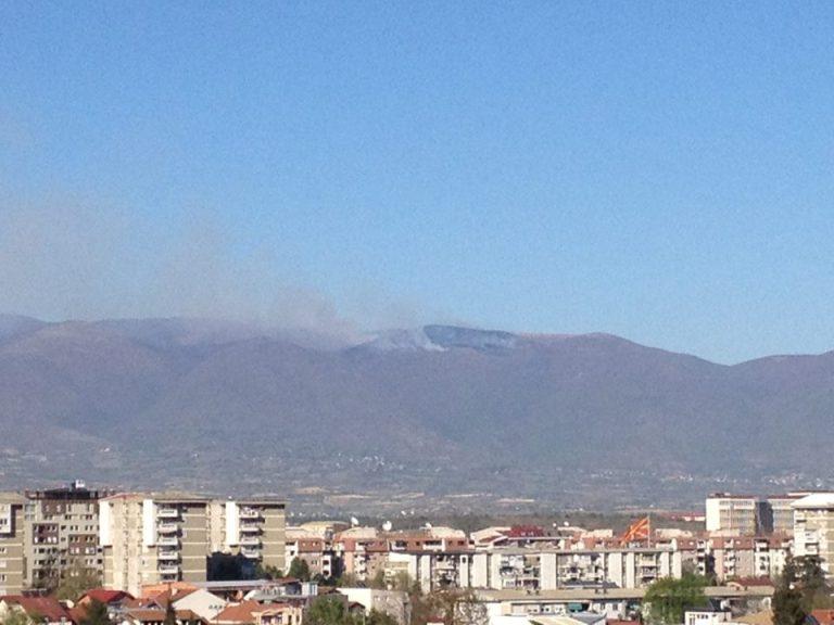 Пожар на Скопска Црна Гора: Гори шумата на 1.400 метри надморска височина