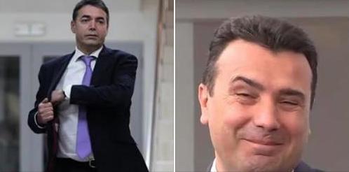 ПОЛИТИЧКИ ВИЦ: Димитров и Заев фрлале евра од авион
