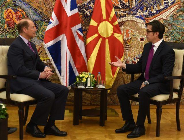 ПЕНДАРОВСКИ: Принцот Едвард ги потврдува силните врски меѓу Македонија и Обединетото Кралство