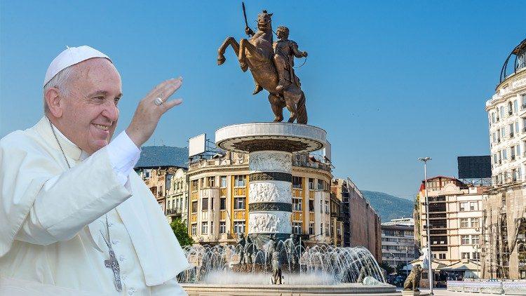 НА ПЛОШТАДОТ МАКЕДОНИЈА: Хрват од Сплит со осумте деца е меѓу 15.000 граѓани во Скопје кои ја очекуваат молитвата со папата