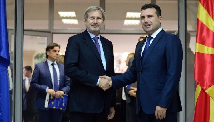 ЗАЕВ НА ХАН: Датум од ЕУ е единствена гаранција дека С. Македонија ќе биде стабилна земја