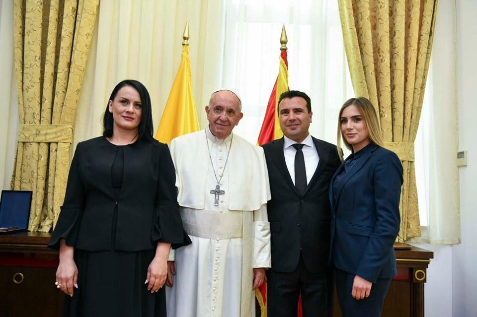 Заев со папата: На средбата им се придружија и сопругата Зорица и ќерката Александра