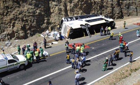 ЈАР: Во судир на автобус и автомобил загинаа 24 лица