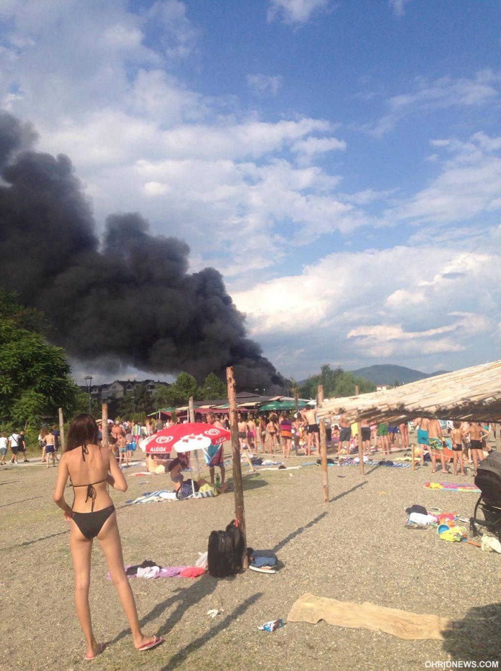 Голем пожар ги пеплоса бараките на Едриличарскиот клуб во Струга