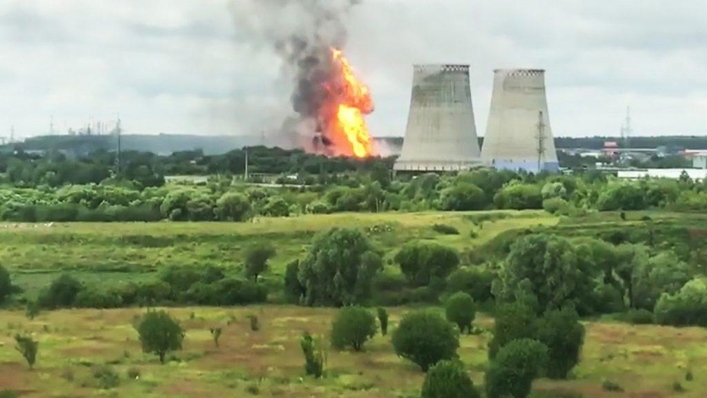Пожар во Москва: 7 повредени во гасна електрана