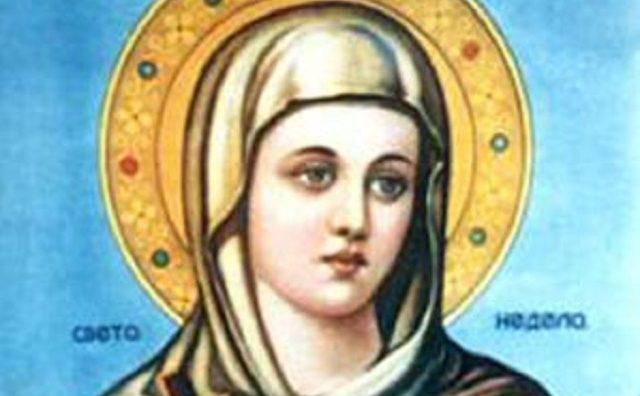 КАЛЕНДАР НА МПЦ: Денеска е Света великомаченица Недела