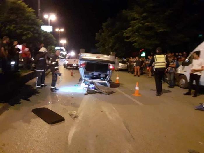 Тетово: Тешко повреден возач откако се преврте со возилото на булевар