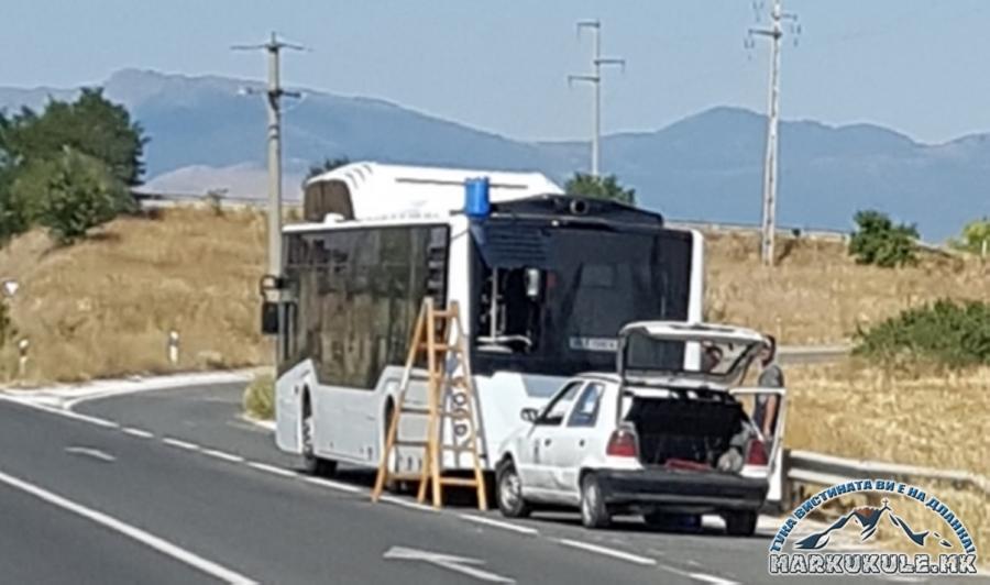 """(фото) Прилеп: Скапиот градски автобус """"рикна"""" уште на пробното возење"""