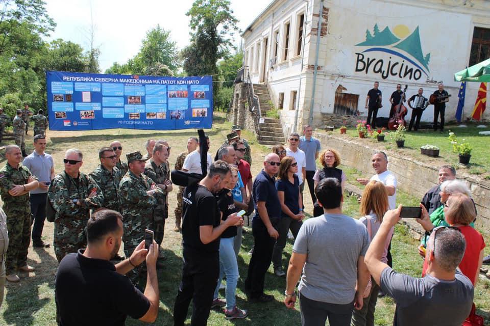 (фото) ШЕКЕРИНСКА: Ние во НАТО, а НАТО во Брајчино!