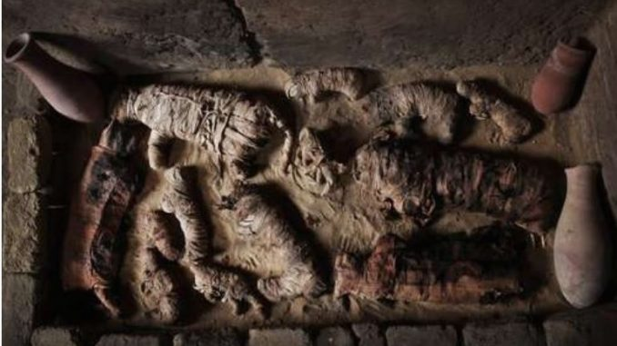 Египетски археолози: Ископани 20 саркофази со живописни бои