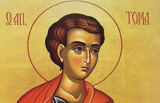 Свети апостол Тома: Во народното паметење останал како неверен Тома