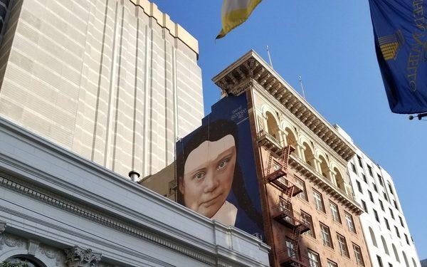 Сан Франциско: И мурал за Грета Тунберг