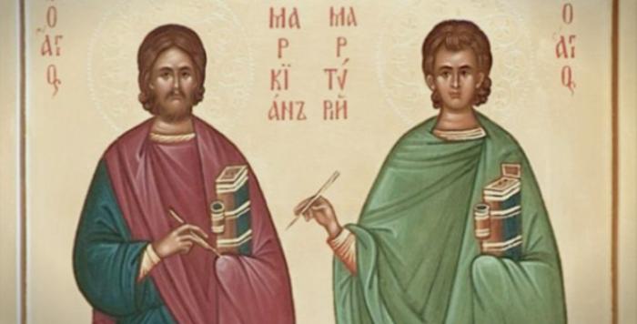 КАЛЕНДАР НА МПЦ: Денеска Св. маченици Маркијан и Мартириј врз чии мошти Св. Јован Златоуст изгради црква