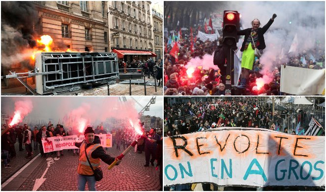 ФРАНЦУСКИ СИНДИКАТИ: На денешните протести имаше 885 000 луѓе