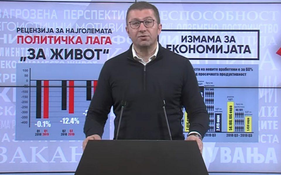 МИЦКОСКИ: Годината 2019-та која ја најавуваа за економска е само година на лагите од Зев и СДСМ