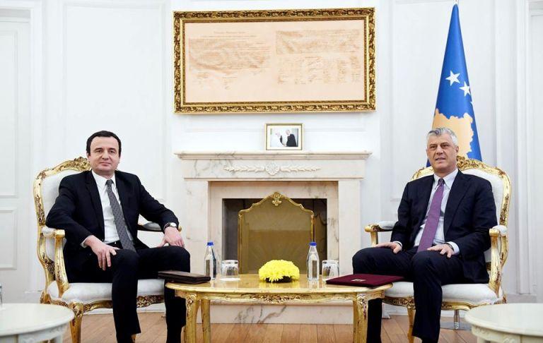 Косово: Тачи денеска на Курти ќе му го даде мандатот