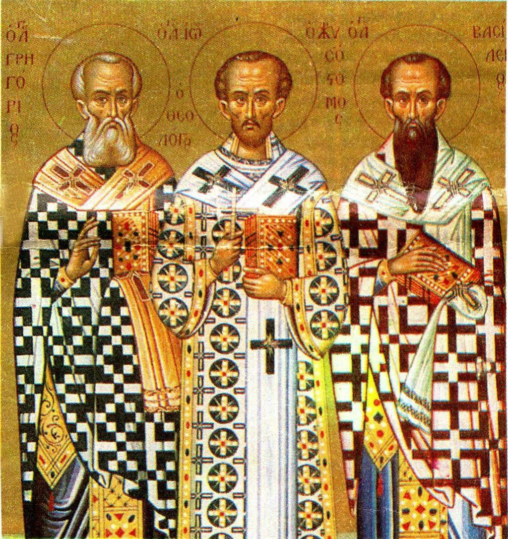 СВ. ТРИ СВЕТИТЕЛИ: Трите столба на христијанската црква – Василиј Велики, Григориј Богослов и Јован Златоуст