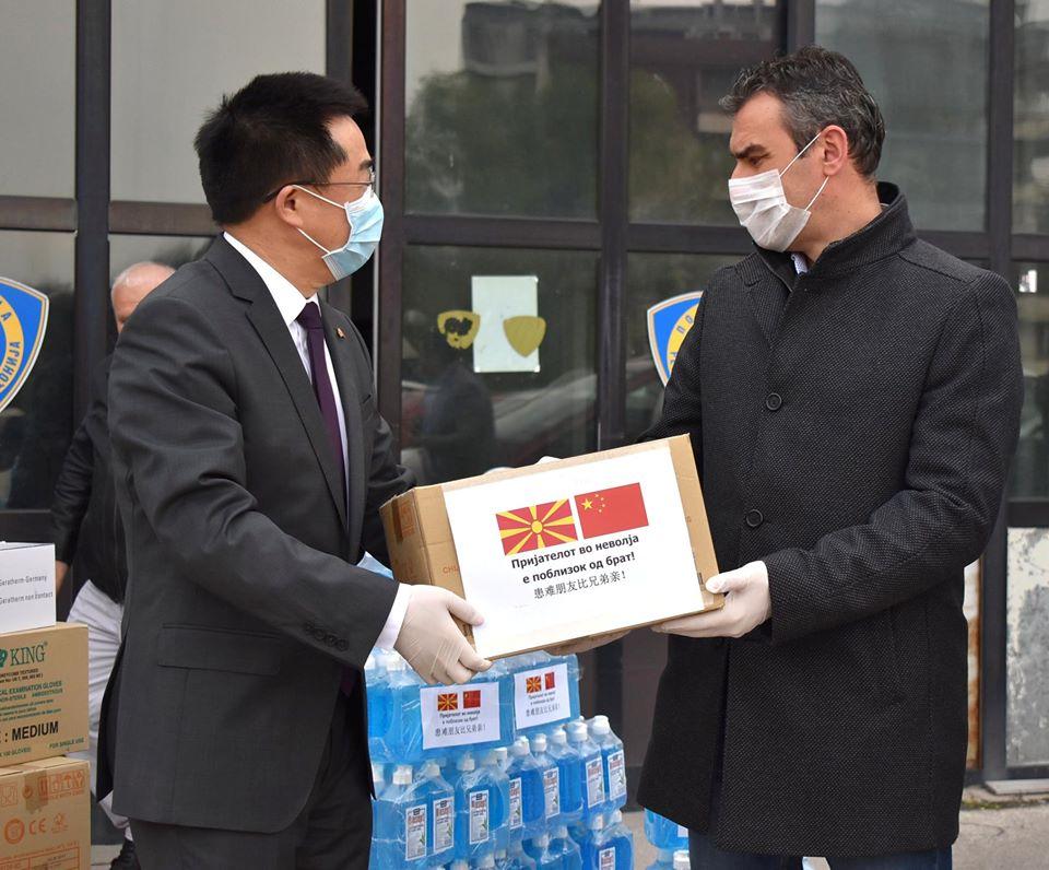 ЧУЛЕВ: Ви благодарам Кина, oвој чин е показател за значењето на солидарноста меѓу државите