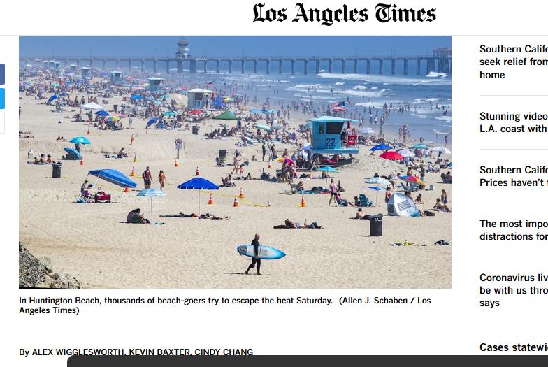 Илјадници луѓе заминаа на плажите во Калифорнија и покрај мерките