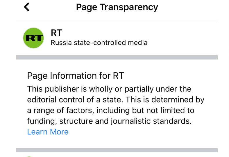 Фејсбук започна да ги означува страниците создадени од кинески и руски државни медиуми