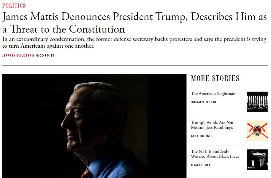 """Матис """"Бесното куче"""" го дисквалификува Трамп, тој одговори: """"Затворете го!"""""""