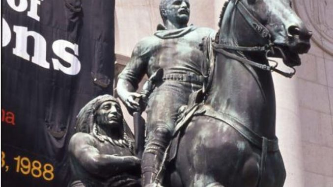 Де Блазио: Споменикот на Теодор Рузвелт се сели од Природнонаучниот музеј во Њујорк