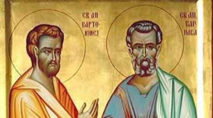 КАЛЕНДАР НА МПЦ: Денеска е Св. апостоли Вартоломеј и Варнава