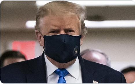 Ковид-19 во САД: Трамп првпат во јавност со маска