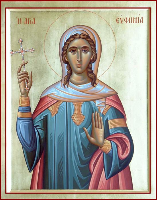 СВ. ЕФИМИЈА: Прекрасна девица и по тело и по душа од родители благочестиви христијани
